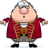 Förvånad tecknad film Ben Franklin royaltyfri illustrationer