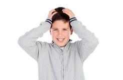Förvånad tonårs- pojke av tretton Arkivfoton