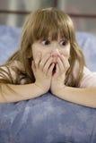 förvånadt barn för flicka Royaltyfria Foton