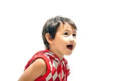 förvånadt barn för pojkeuttryck Royaltyfri Fotografi