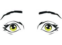 Förvånat öga som isoleras på vit bakgrund Royaltyfri Bild