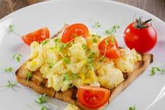 förvanskad white för bakgrundsägg omelett Arkivfoto