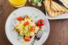 förvanskad white för bakgrundsägg omelett Royaltyfria Foton
