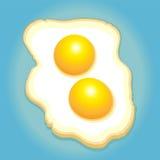 förvanskad white för bakgrundsägg omelett Royaltyfria Bilder