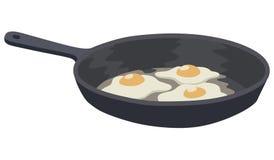 förvanskad white för bakgrundsägg omelett stock illustrationer