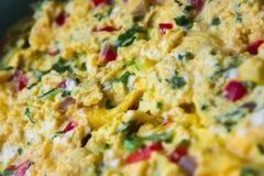 förvanskad white för bakgrundsägg omelett Royaltyfri Fotografi