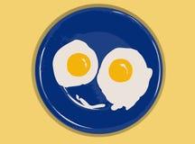 förvanskade ägg Arkivfoton