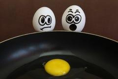 Förvanskade ägg Royaltyfri Foto