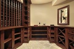 förvara i källare home lyxig wine royaltyfri bild