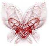 förvecklad hjärta Arkivbild