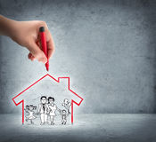 Förverkligande av ditt hus arkivbilder