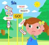 Förvirrad barnvektor Royaltyfria Bilder