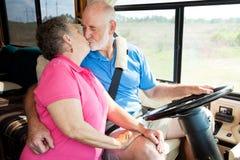 förvirringar som kör rv-pensionärer Arkivbilder