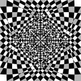 Förvriden deformerad assymetrisk textur Tessellating buse som är lättretlig vektor illustrationer