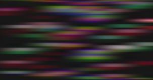 Förvriden och suddig rörelse av mångfärgade ljusa ljus arkivfilmer