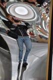 Förvriden spegel Arkivbilder