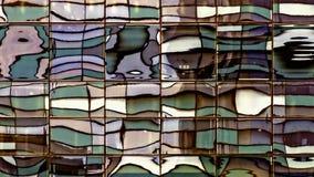 Förvriden Windows reflexion - bytt ut färg Arkivfoto