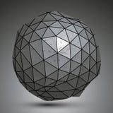 Förvridet metalliskt dimensionellt abstrakt objekt vektor illustrationer