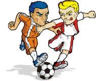 Fútbol 02 de la historieta Fotografía de archivo