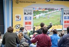 Fútbol 2010 de la taza de mundo Imagen de archivo libre de regalías