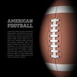 Fútbol americano con el sitio para el texto Imagen de archivo