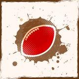 Fútbol americano del Grunge Imagen de archivo libre de regalías