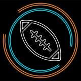 Fútbol americano - icono del deporte, símbolo del rugbi ilustración del vector