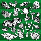 Fútbol americano inconsútil Fotografía de archivo libre de regalías