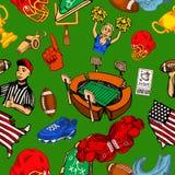 Fútbol americano inconsútil ilustración del vector