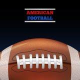 Fútbol americano Vector Fotos de archivo