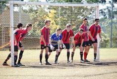 Fútbol australiano del club de la juventud fotografía de archivo