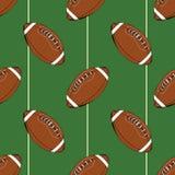 Fútbol, bosquejo dibujado mano inconsútil del modelo de la bola de rugbi, ejemplo del vector stock de ilustración