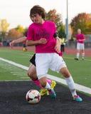 Fútbol central de la High School secundaria de Lincolnway adelante Fotografía de archivo