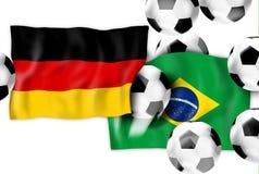 Fútbol de Alemania el Brasil Belu del 7:1 stock de ilustración