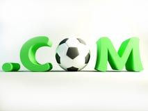 Fútbol de COM stock de ilustración