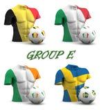Fútbol de Europa del Este 2016 del grupo ilustración del vector