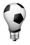 Fútbol de la bombilla Imágenes de archivo libres de regalías