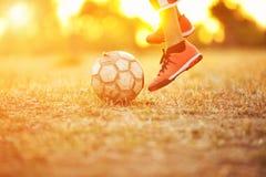 Fútbol de la calle Foto de archivo libre de regalías