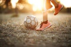 Fútbol de la calle Imagen de archivo libre de regalías