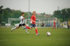 Fútbol de la juventud Fotografía de archivo