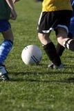 Fútbol de la juventud Imagen de archivo libre de regalías