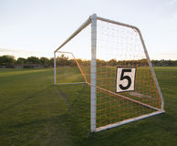 Fútbol de la mañana de domingo Fotografía de archivo libre de regalías