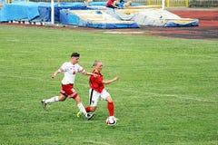 Fútbol de la muchacha Imagen de archivo libre de regalías