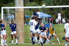 Fútbol de las muchachas   Imágenes de archivo libres de regalías
