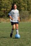 Fútbol de las muchachas Foto de archivo libre de regalías