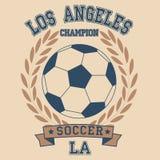 Fútbol de Los Ángeles stock de ilustración