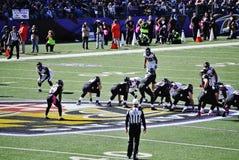 Fútbol de los Baltimore Ravens Fotos de archivo