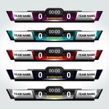 Fútbol de los elementos del marcador Imagenes de archivo