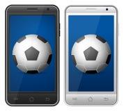 Fútbol de Smartphone stock de ilustración