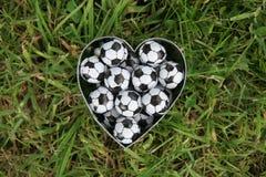 Fútbol del amor Fotografía de archivo libre de regalías